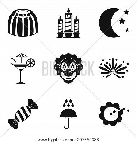 Puerility icons set. Simple set of 9 puerility vector icons for web isolated on white background