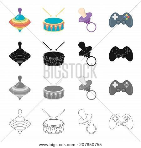 Attributes, care, tools and other  icon in cartoon style.Prefix, game, tool, icons in set collection
