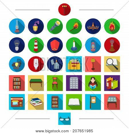 Electrical appliances, lighting and other  icon in cartoon Style.education, information, archive, icons in set collection.