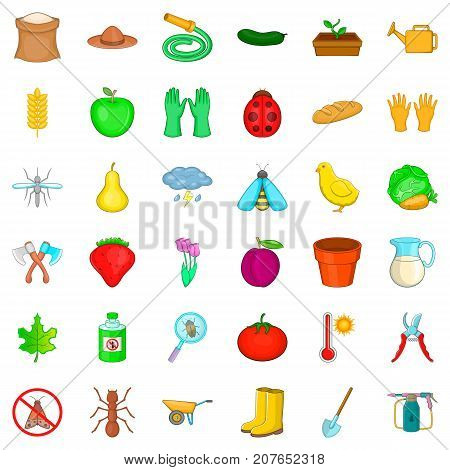 Storm icons set. Cartoon style of 36 storm vector icons for web isolated on white background