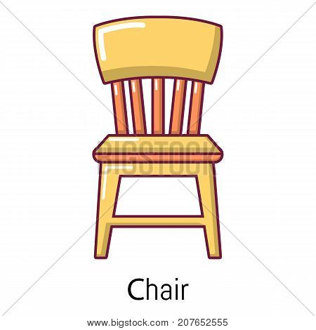 Retro chair icon. Cartoon illustration of retro chair vector icon for web