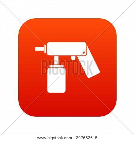 Spray aerosol can bottle with a nozzle icon digital red for any design isolated on white vector illustration