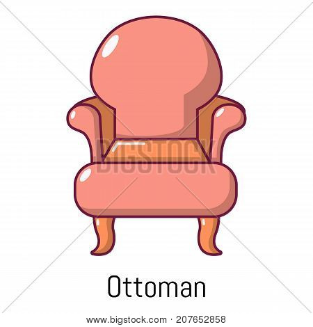 Vintage armchair icon. Cartoon illustration of vintage armchair vector icon for web