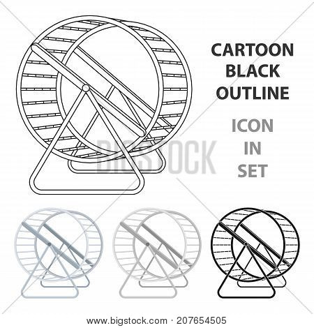 Wheel for rodents.Pet shop single icon in cartoon style vector symbol stock illustration .