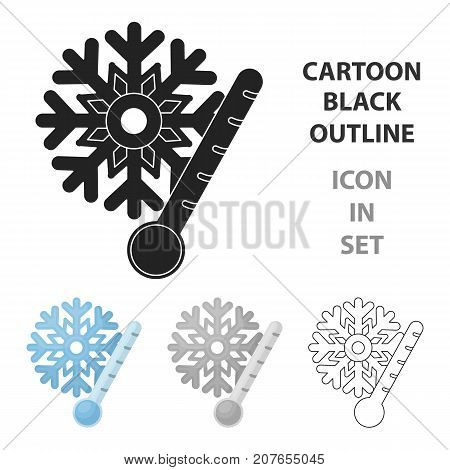 Frost icon in cartoon style isolated on white background. Weather symbol vector illustration.