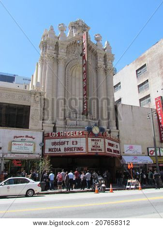 Los Angeles California USA, 6 June 2011: E3 Electronic Entertainment Expo Ubisoft press conference at the Los Angeles Theatre