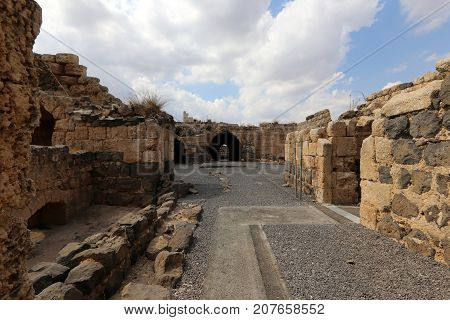 Fortress Belvoir - a castle of the Crusader era located at an altitude of 500 meters above the valley of the Jordan River