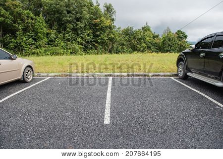 empty space for cars ,outdoor car parking .