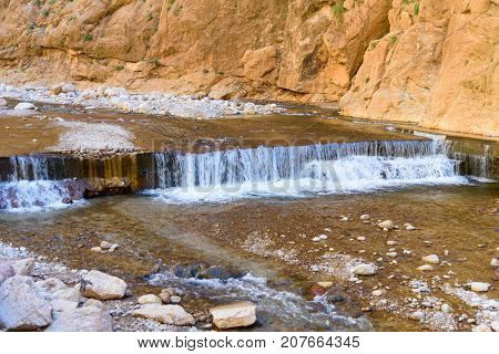 River In Todgha Gorge. Morocco
