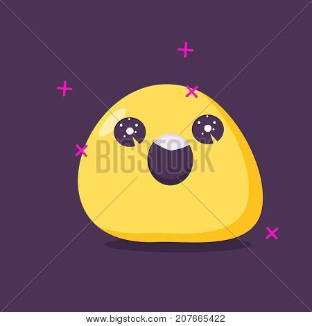 Emoji character in euphoria . Vector icon.  flat style.