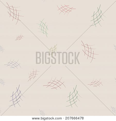 Crosshatch on beige background. Fashion graphic seamless pattern design. Modern stylish abstract texture. Colorful template for prints textiles wrapping wallpaper etc. Vector illustration
