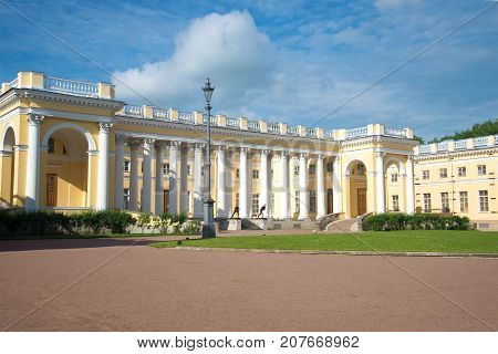 Sunny July day at the Alexander palace. Tsarskoye Selo, Russia