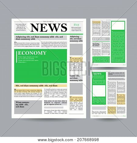 Newspaper Design Vector Photo Free Trial Bigstock