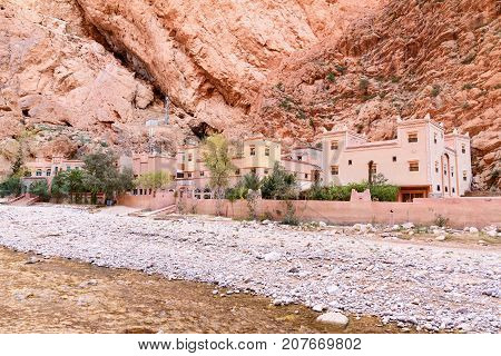 Hotel In Todgha Gorge. Morocco