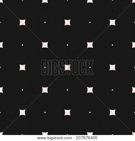 Vector seamless pattern. Modern minimalist texture, small squares, tiny geometric shapes. Abstract dark repeat background, simple design element for prints, decor, fabric, furniture, textile, digital. Dots pattern. Squares pattern.