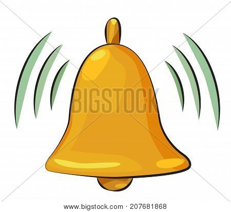 Cartoon image of Notification Icon. Bell symbol. An artistic freehand picture.