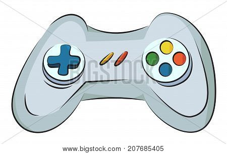 Cartoon image of Game Icon. Gamepad symbol. An artistic freehand picture.