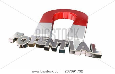Potential Magnet Letters Possible Realize Full Ability 3d Illustration