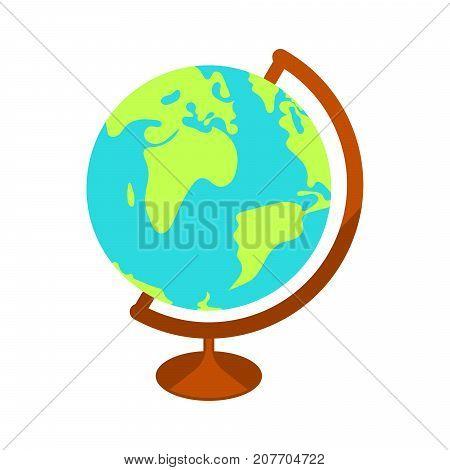 School globe vector illustration. World globe vector icon.