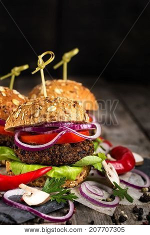 Vegan Burgers Background