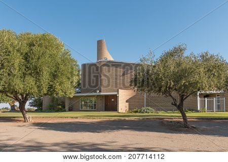 UPINGTON SOUTH AFRICA - JULY 6 2017: The Dutch Reformed Church Upington-West in Upington in the Northern Cape Province