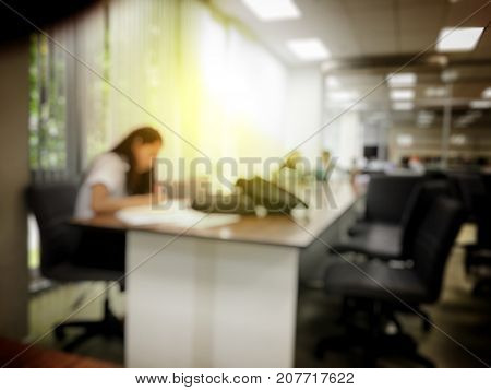 Blurred Image Of Student Reading A Book, Practice Homework, Preparing For The Examination In Modern