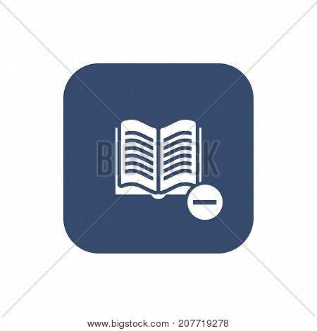 Catalog remove icon. Vector illustration of UI design