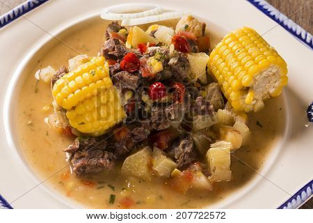 Meat And Corn - Guisado - Traditional Brazilian Dish