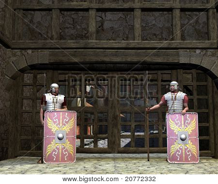 Roman Legionary Gate Guards
