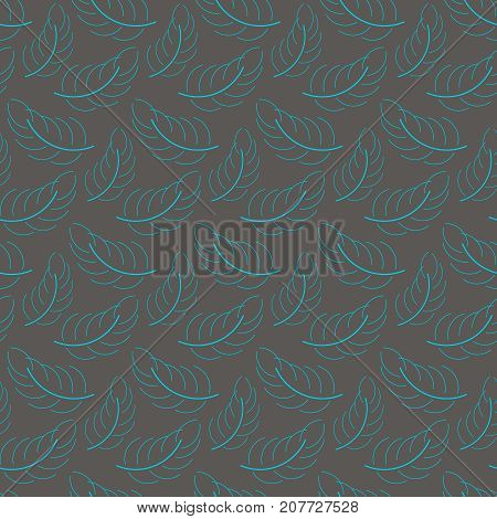 Seamless feather background with colors. loopable pattern