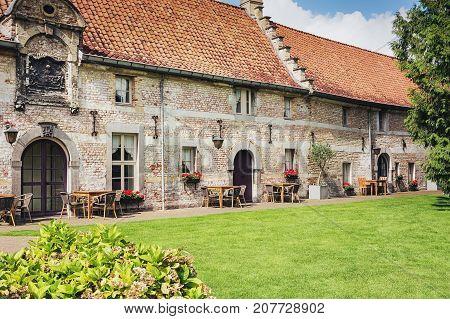 The hotel at Valkenburg Castle Schaloen in The Netherlands.