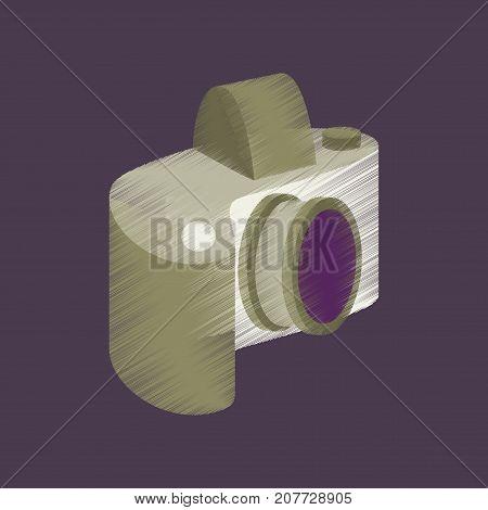 flat shading style icon camera focus photographic
