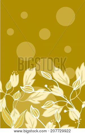 Beautiful floral simple design card. Vector illustration