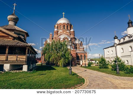 Church of the Theotokos Joy of All Who Sorrow at the John-Baptist Monastery in City-Island Sviyazhsk Russia.