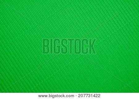 texture of corrugated green color paper background