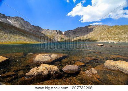 Summit Lake at Mount Evans Mountain Colorado