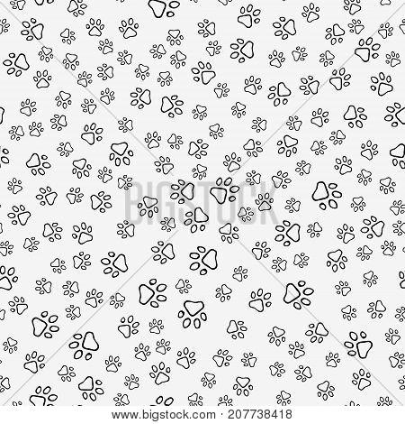 Dog Paw Print Seamless Pattern