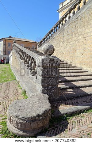 CAPRAROLA ITALY - OCTOBER 16 2016: A visit at Villa Farnese (in italian Palazzo Farnese) a massive Renaissance and Mannerist