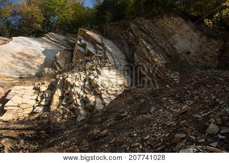 Landslide In Carpathian Flysch