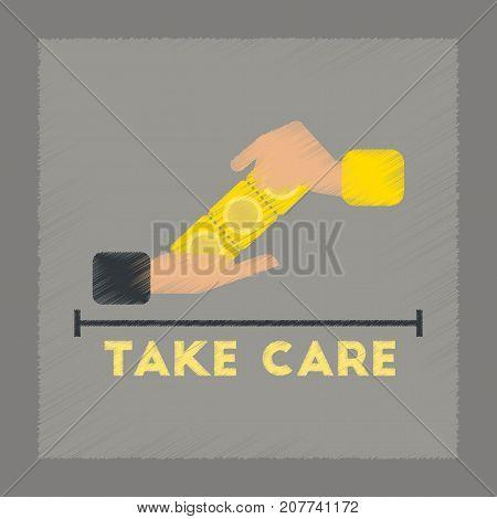 flat shading style icon gays hand condoms