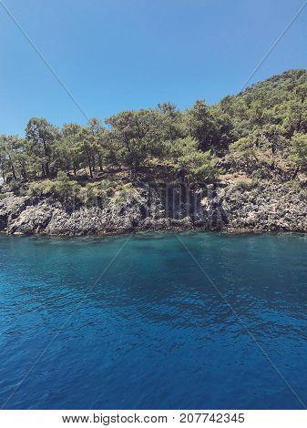 Aegean Sea in Oludeniz, Turkey boat trips.