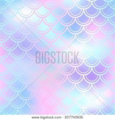 Fantastic fish skin vector background with scale pattern. Mermaid pattern. Pale gradient mesh. Spotted blurry vector background. Fish skin seamless pattern. Mermaid scale background. Pastel fishscale