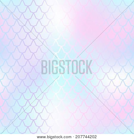 Fantastic fish skin vector background with scale pattern. Mermaid pattern. Pale gradient mesh. Abstract blurry vector background. Fish skin seamless pattern. Mermaid scale background. Pink fishscale