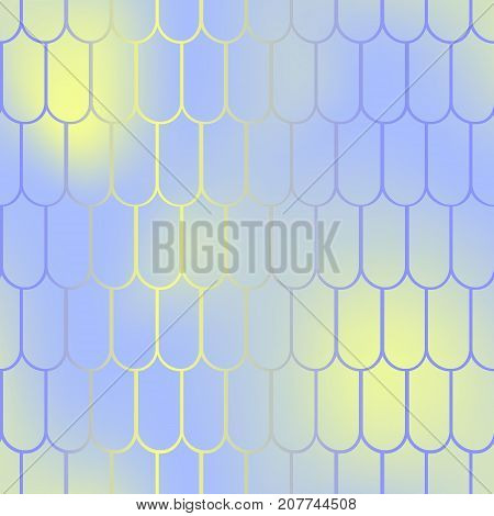 Fantastic fish skin vector background with scale pattern. Mermaid pattern. Pale gradient mesh. Abstract blurry vector background. Fish skin seamless pattern. Mermaid scale background. Magic fishscale