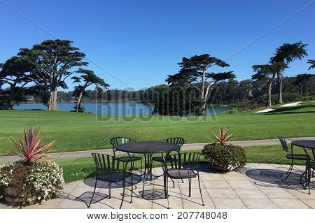 Relaxing view from Harding Park Municipal Golf Course in San Francisco, California