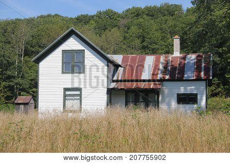 A white farm house in Port Oneida Rural Historic District, Sleeping Bear Dunes National Lakeshore, Michigan