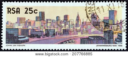SOUTH AFRICA - CIRCA 1986: A stamp printed in South Africa from the