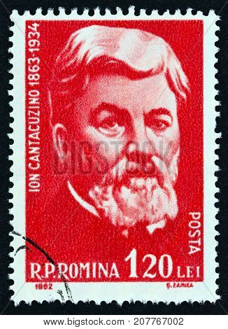 ROMANIA - CIRCA 1962: A stamp printed in Romania shows Ion Cantacuzino, bacteriologist, circa 1962.