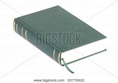 One Green Blank Book With Bookmark