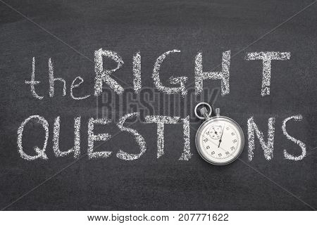 The Right Questions Watch